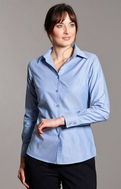 Ladies Oxford Long Sleeve Blouse