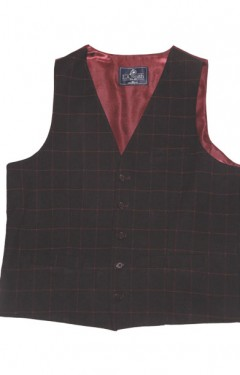 Tailored Fit Window Check Warm Handle Waistcoat