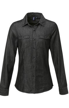 Ladies' Long Sleeve Denim Shirt