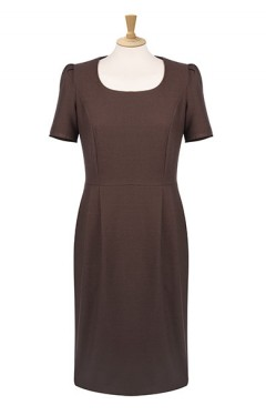 Scoop Neck Shift Dress with Pockets