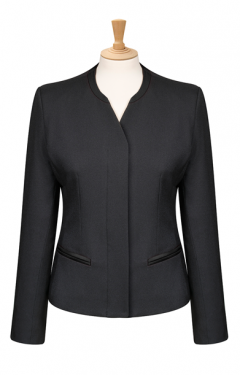 Medium length concealed button front Jacket