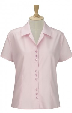 Short Sleeve 3 Button Blouse