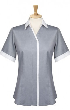 Short Sleeve Trim Blouse
