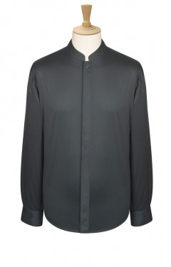 Long Sleeve Mandarin Style Shirt
