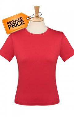 Easy care round neck top.