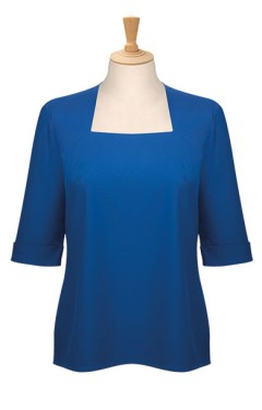 Ladies' 3/4 Sleeve Square Neck Blouse