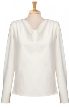 Ladies Cowl Neck Blouse