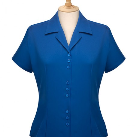 Short Sleeve 3 Button Blouse: Image 12