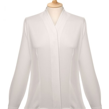 Ladies' Long Sleeve V Neck Blouse: Image 11