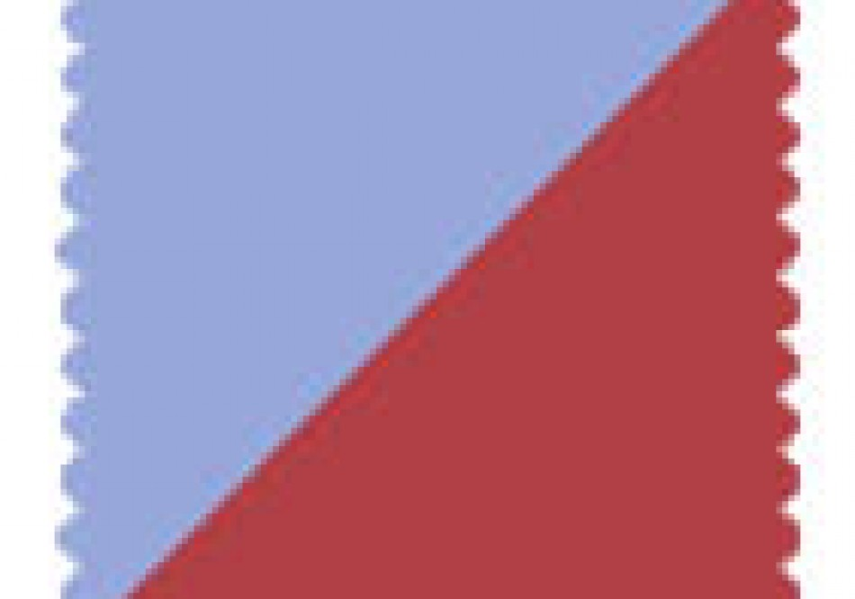Pale Blue / Red