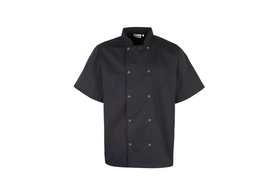 Short Sleeve Studded Chef's Jacket