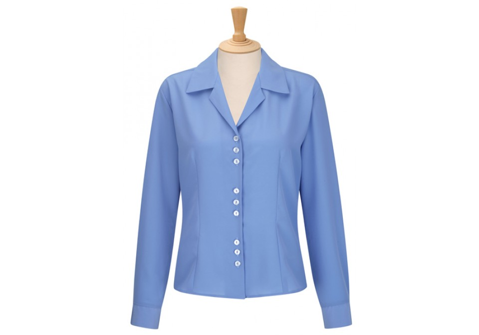 Long Sleeve 3 Button Blouse