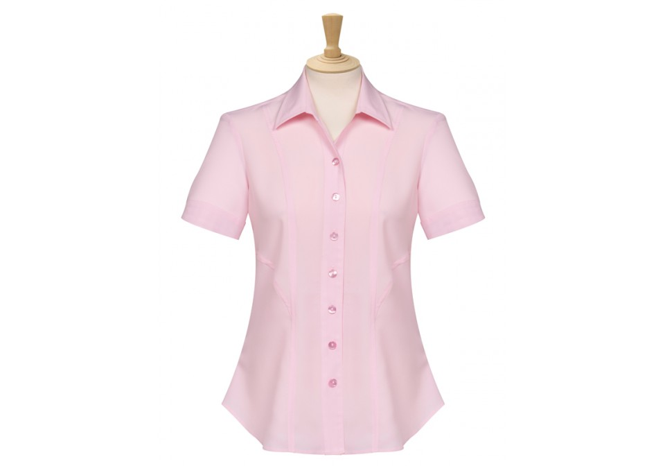 Short Sleeve Panelled Blouse