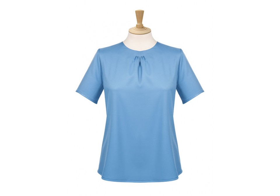 Ladies Pleat Neck Blouse