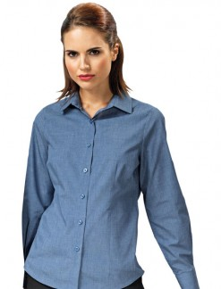 Ladies Cross Dye Roll Sleeve Shirt