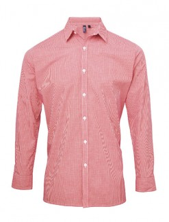 Men's Long Sleeve Microcheck Gingham Shirt