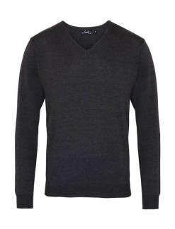 Men's V-Neck Knitted Sweater