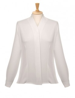 Ladies' Long Sleeve V Neck Blouse