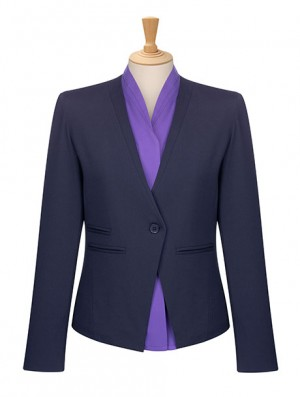Collarless 1 Button Jacket