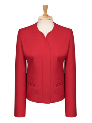 Medium length concealed button Jacket