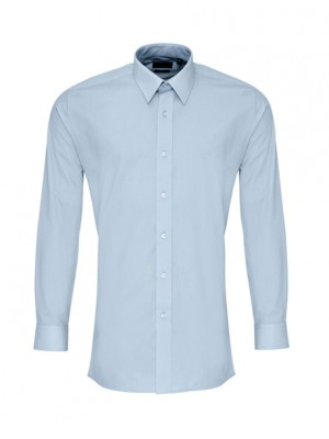 Long Sleeve Fitted Poplin Shirt